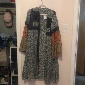 Free people long duster/dress/kimono